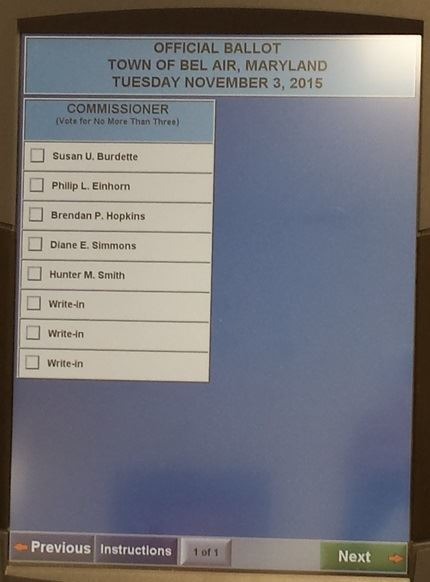 Election 2015 | Town of Bel Air, MD - Official Website