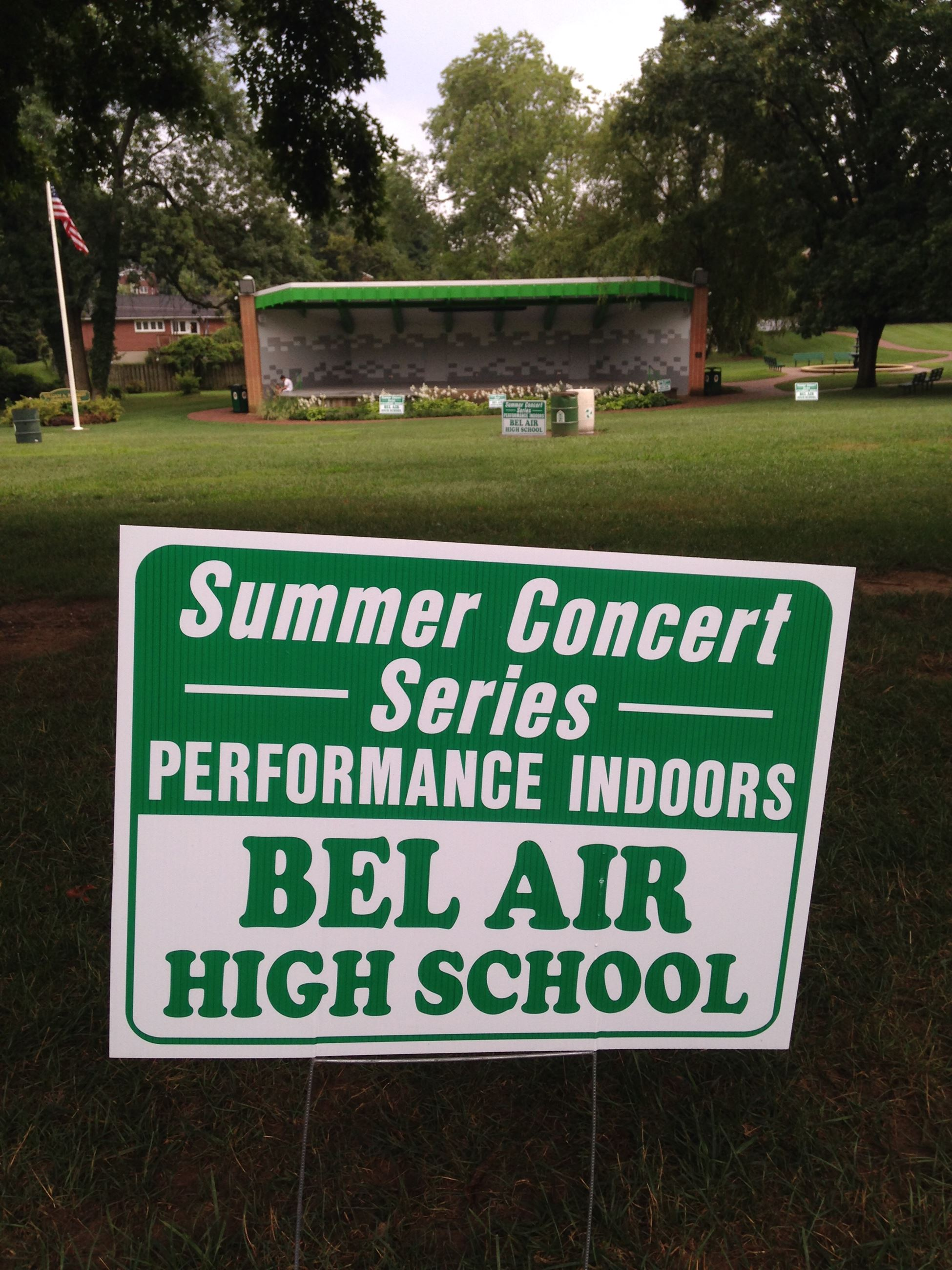 Summer Concert Moved to BAHS
