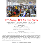 The 59th Annual Bel Air Gun Show flyer (Feb. 1-3, 2019)