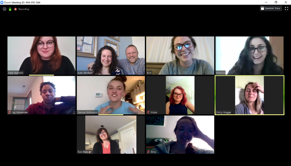 K & B Bridals team meetings go virtual